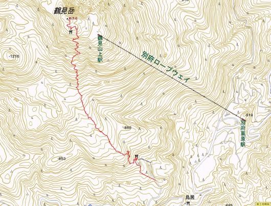 鶴見岳登山ルート